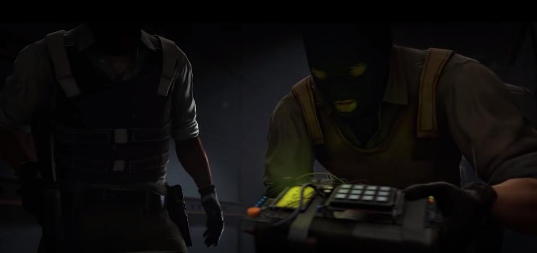 CS:GO terrorists making a bomb